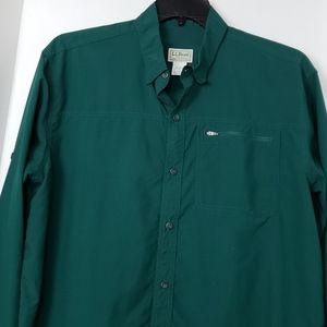 LL Bean long sleeve button up shirt. Size Large